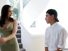 Juggy step mommy Chanel Preston seduces stepdaughter's boyfriend