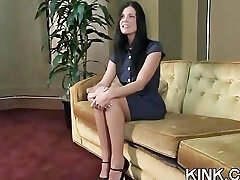 Good-sized tits, submissive housewife