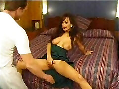 Asia Carrera and her large titties starring in a gonzo vintage vid