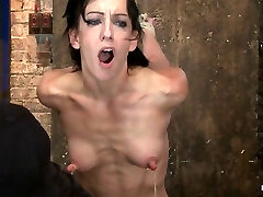 Elise Is Limited Down By Her Own Huge Nipples, Held Down On A Sybianany Movement Is Nipple Pain - HogTied