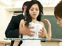 Aoi Sora الأبرياء مثير اليابانية الطالب هو الحصول على مارس الجنس في الفصول الدراسية