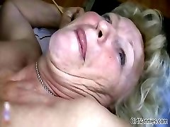 Horny old granny with huge tits loves part4