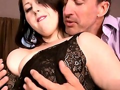 Horny housewife first facial