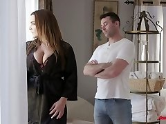 Curvaceous French babe Natasha Nice gets greased up and smashed hard