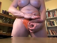 Fat transsexual with suspended cock