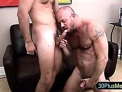 Muscle bear cock suck and rimjob