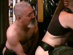 Queer Transexual fuck with Hairy Men in Leather