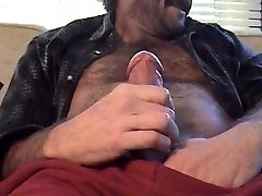 Hairy Hunk Dad Explodes