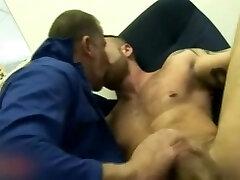 Homosexual Hairy Man Workmen Trojan and Ben