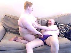 Fat couple making out, BBW, BHM, Bear Chub