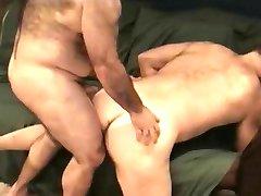 Horny bear sucks with lust his lover's throbbing member