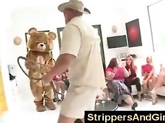 Original Dancing Bear party with sexy girls