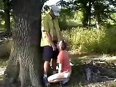 Arab Man plows a White Boy Outdoor