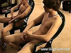 Sizzling gay sex Jared is jumpy about his first time jacking off on