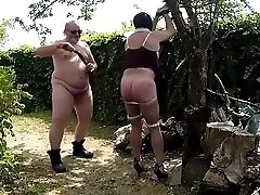 Long whipping session outdoor