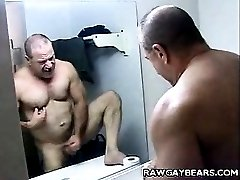 Daddy Bear Bathroom Stroking