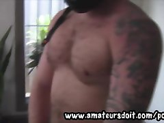 Motorcycle Dude Is Big, Beefy, Uncut and Hairy