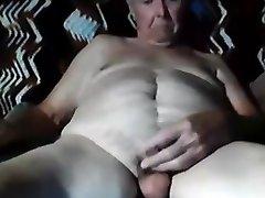 Granddad stroke on webcam 8