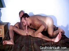 Blond guy is fucked by gay bear part4