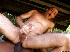 Beefy muscle gays doing hardcore anal sex