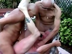 Older men threesome, hot