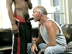 White Daddy Breaks Ass On Huge Black Cock