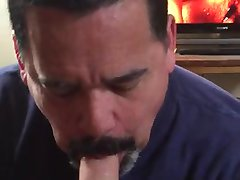 handsome daddy likes cock sucking