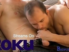 Badpuppy's Zack Hood drains his cock & demonstrates off his muscles