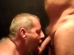 Daddy bear deep throats cock 5