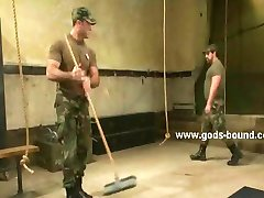 Strong full of muscles army trainee bdsm