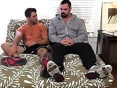 Cole gets foot worship from big muscled and hairy Dolan