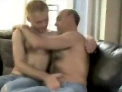 Hairy daddy and Smooth guy, Fuck and Suck, Facial Cum Load