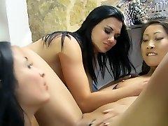 Ultra-kinky superstars Lindsey Olsen, Anissa Kate and Kristall Rush in exotic blonde, tattoos hardcore scene