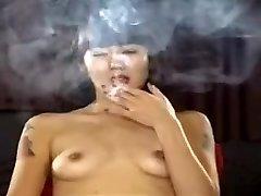 Exotic homemade Diminutive Tits, Smoking porno scene