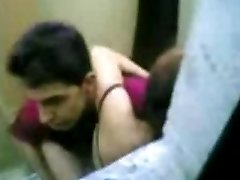indonesian Maid Plumb With Pakistani Guy in Hong Kong Public Restroom