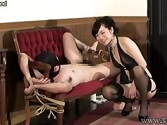 Japanese Female Dominance Prostate Massage Bound Slave