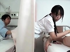 Mischievous dark haired Asian nurse part4
