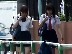 Japanese Undies-Down Sharking - Students Pt 2- CM