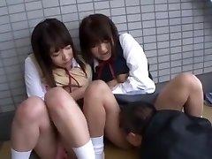 Best Asian woman Yua Aihara, Makoto Takeuchi, Iku Sakuragi in Hottest Pussy Eating, College/Gakuseifuku JAV clip