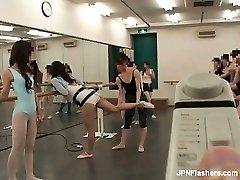 Dark haired Asian hoe dancing ballet partFive