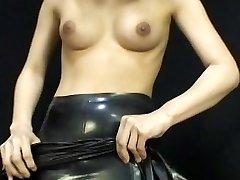 Japansk Latex Klänning 054