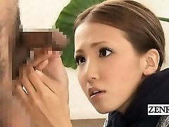 Subtitled CFNM Japanese freaky group dick inspection
