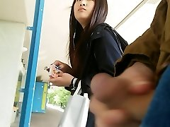 asian girl takes a view