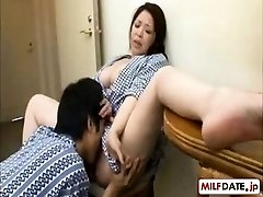 Youthfull son in law enjoys NOT his the mother