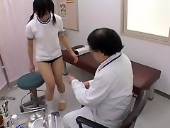 Teenage gets her pussy examined by a nasty gynecologist