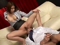 Incredible Japanese whore in Exotic Secretary, Massage JAV clip