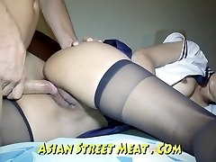 Bum Drilled haning On Asian Balcony