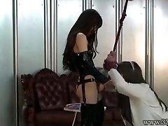 Japansk Dominant kvinna Emiru BDSM Löskuk Jävla