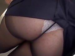Crazy Japanese mega-bitch Yayoi Yanagida in Cool Big Tits, Office JAV clip