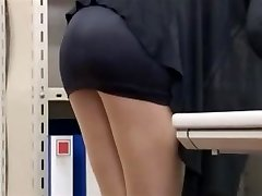 office dame lets him look-byrequest